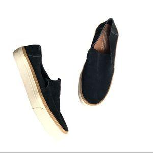 Toms Sunset Slip-On Sneaker Black Suede
